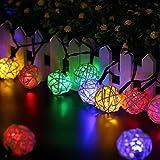 LightsGoal Solar String Lights, Globe Moroccan Ball Lights , 20ft 30 LED 2 Modes Fairy Orb Lantern Lighting for Outdoor, Gardens, Homes, Wedding, Christmas Party, Waterproof
