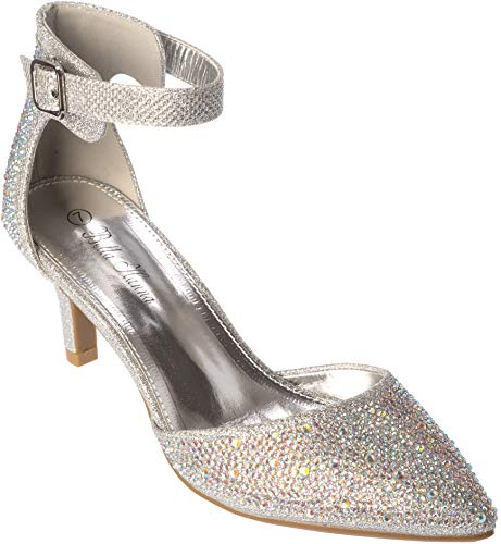 jupiter02 Womens Evening Sandal Rhinestone Silver Dress-Shoes Size 10 from Shoes Picker