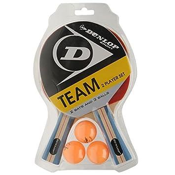 Dunlop Team Two Player Set Table Tennis Set (2 Bats and 3 Balls ...