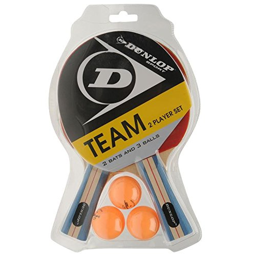 Dunlop Team Two Player Set Table Tennis Set (2 Bats and 3 Balls)