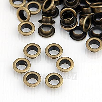 Trimming Shop 100 X 4mm Eyelet With Gold Inner Hole For Clothes And Leather Crafts Grommets For Adding Ribbons Fabric In Art And Sewing Projects Ideal Gold