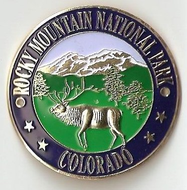 0a3dbc28d46 Image Unavailable. Image not available for. Color  Rocky Mountain National  Park - Elk - Hiking Stick Medallion
