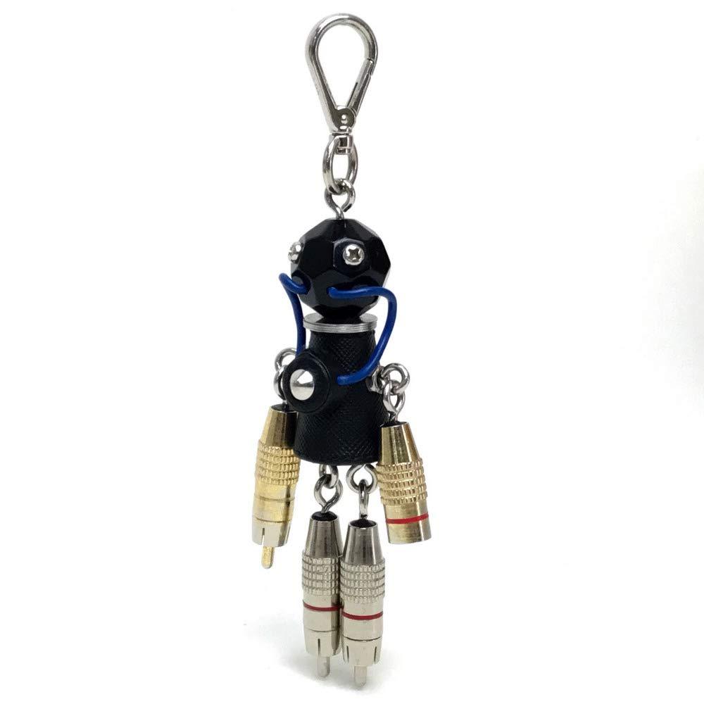 (プラダ)PRADA ロボット バッグチャーム キーホルダー メタル/レディース 中古   B07RFMMQZ2