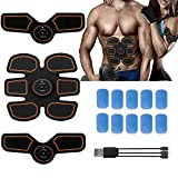 AY Abdominal Muscle Toner, Abdominal Toning Belt, EMS Muscle Stimulator Electronic Rechargable Muscle Trainer, Smart Wearable Home Abs Trainer for Men Women Smart Body Building