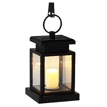 LED Lanterne solaire Romantica Leuchten Lampe solaire de sécurité  résistante aux intempéries avec bougies Décoration Jardin Terrasse  Lampadaire ...