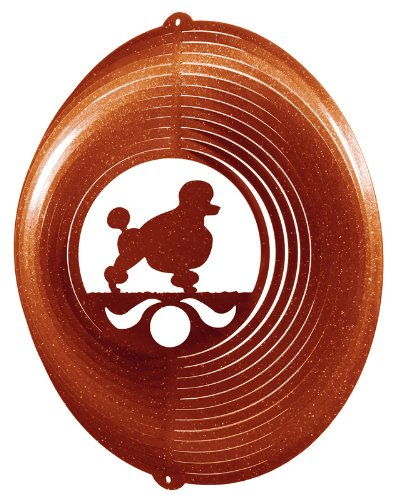 (SWEN Products POODLE Circle Swirly Metal Wind Spinner)