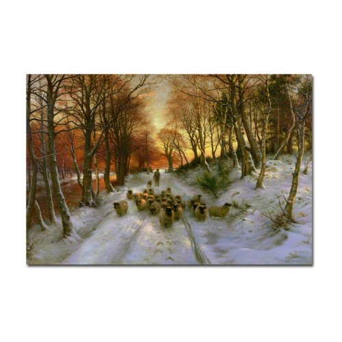 Glowing Tints of Evening Hours by Joseph Farquharson, 22 by 32-Inch Canvas Wall Art