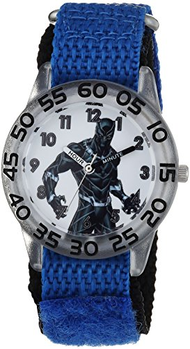 Marvel Boy's 'Avengers' Quartz Plastic and Nylon Casual Watch, Color:Blue (Model: WMA000230)
