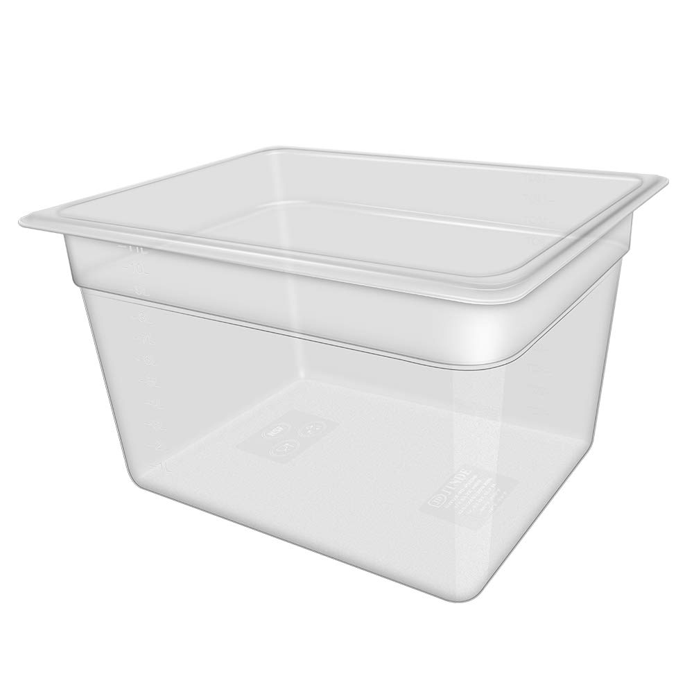 Sous Vide Container 12 Quart for Anova and Joule Cooker, Large Food Storage Container, Clear Square Container Space Saving with Clean Cloth, BPA Free for Kitchen, Food Prep, without Lid by Panda Grip