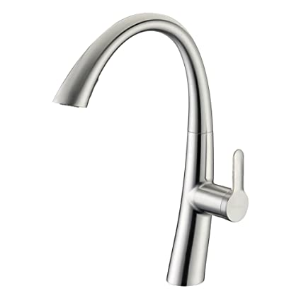 kitchen faucet brushed nickel delle rosa built in sprayer solid rh amazon com  moen kitchen faucet with built in sprayer