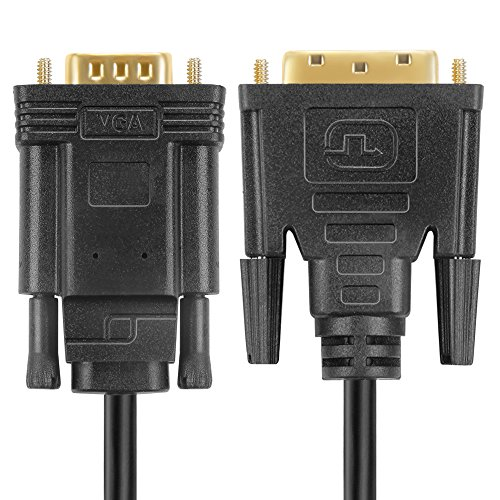TNP Active DVI to VGA Adapter Cable (6FT) DVI 24+1 DVI-D Male to VGA Male w/ Chip & 1080P High Resolution Gold Plated Contact Connector Converter Wire Cord for Computer PC DVD Monitor HDTV by TNP Products (Image #3)