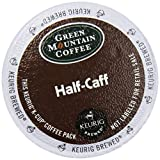 coffee 1 cup servings - Green Mountain Coffee K-Cup for Keurig K-Cup Brewers, Half-Caff (Pack of 48)