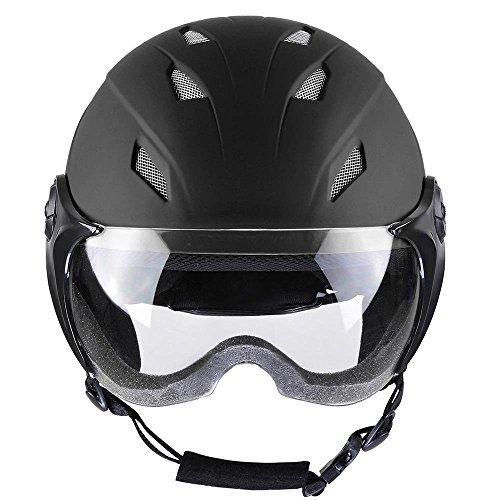 Kids Snow Sport Helmet ATSM Certified Ski Skate Board Protective Skiing Snowboard Skating Skateboard (Matte Black, Size S)