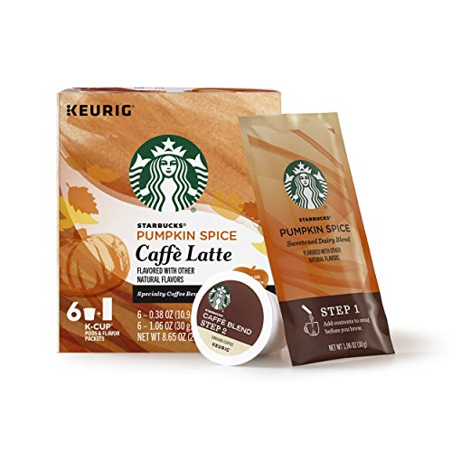 Starbucks Pumpkin Spice Caffe Latte Single-Cup Coffee for Keurig Brewers, 4 Boxes of 6 (24 Total K-Cup Pods)