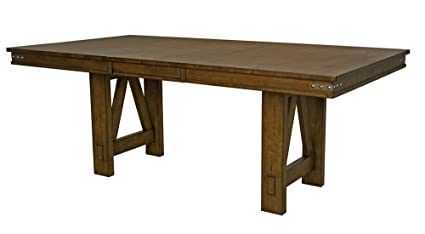 amazon com a america eastwood 78inch trestle table with 18inch rh amazon com