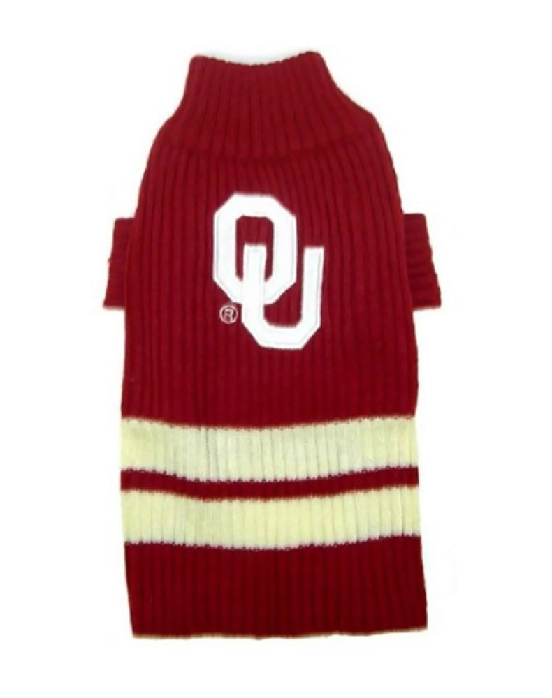 Pets First Sports Fan NCAA Oklahoma Sooners Dog Sweater Xtra Small by Pets First