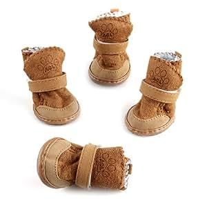 Amazon.com : Pet Dog Snow Shoes Warm Winter Boots