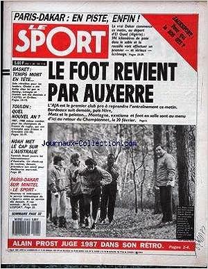 Livres Kindle gratuits téléchargements SPORT (LE) [No 98] du 04/01/1988 - PARIS - DAKAR - LE FOOT REVIENT PAR AUXERRE - ALAIN PROST - BASKET - TOULON - RUGBY - NOAH - AUSTRALIE - PARIS - DAKAR. B0047TSFSY MOBI