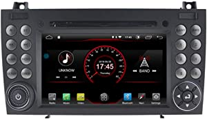 Autosion in Dash Android 10 Car DVD Player Radio Head Unit GPS Navi Stereo for for Mercedes-Benz SLK R171 W171 SLK350 SLK300 SLK280 2004-2011 Support Steering Wheel Control
