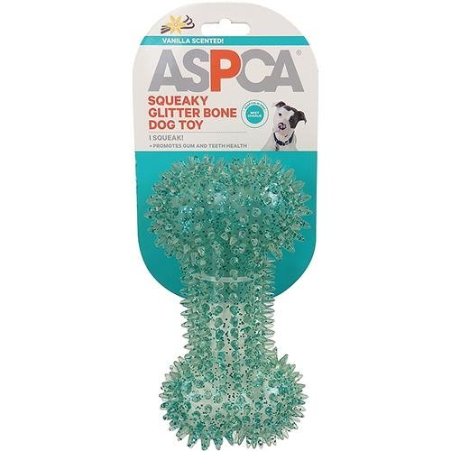 Bones Bow Wow (Aspca Squeaky Glitter Bone Dog Toy-blue)