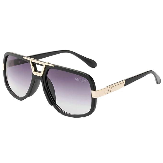 SHEEN KELLY Retro 80s clásico gafas de sol Hombres mujeres gafas de sol Pilot Oro