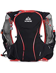 AONIJIE NACATIN Waterproof Nylon Outdoor Hydration Pack Vest Backpack for Camping Running Cycling Hiking 5L (1...
