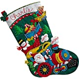 Bucilla 86708Choo-Choo calcetín de Papá Noel Kit