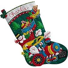BUCILLA 86708  Choo-Choo Santa Stocking Kit
