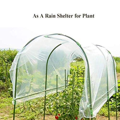 AITREASURE 6.5ft × 10ft Greenhouse Film 6.3 mil Garden Clear Polyethylene Plastic Covers 160 GSM for Greenhouse Plants Windproof Frost& Dust Proof (one Pack)