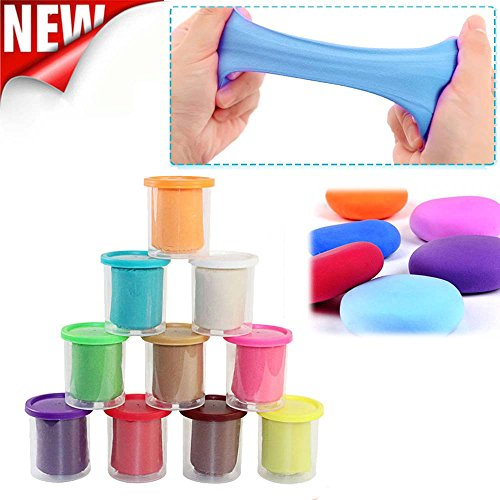 Coohole 10Pcs DIY Slime Malleable Polymer Soft Clay Blocks Plasticine Stress Relief Children Toys (A)