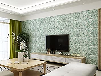 Backstein Tapete PVC Wand Marmor 3d Dreidimensionale Wandaufklebern Tv  Hintergrund Wand Tapeten Deko Wasserdichte Tapete,