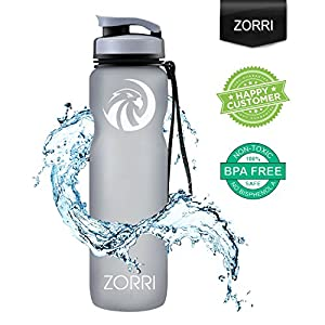 Sport Water Bottle 20oz/1000ml,Leak Proof BPA Free Eco-Friendly Plastic Drink Beverage Best Water Bottles for Travel/Hiking/Camping/Outdoor/Running/Gym Flip Top Lid & Filter Opens with 1-Click