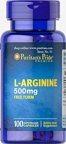 Puritan's Pride L-Arginine 500 mg-100 Capsules