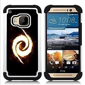 GIFT CHOICE / Defensor Cubierta de protección completa Flexible TPU Silicona + Duro PC Estuche protector Cáscara Funda Caso / Combo Case for HTC ONE M9 // Fire Swirl //