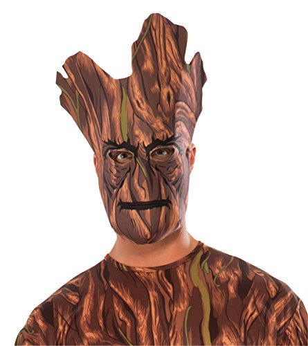 Groot Guardians Of The Galaxy Costume - Rubie's Costume Guardians of the Galaxy Groot Fabric Mask