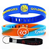 Adjustable Silicone Wristband Bracelets for Sports Fans-Awesome Gift for Your Family and Friends. (Warriors35)