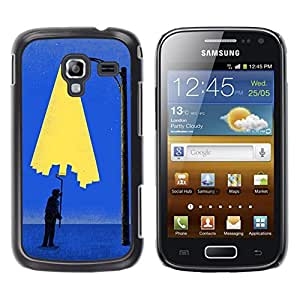 Shell-Star Arte & diseño plástico duro Fundas Cover Cubre Hard Case Cover para Samsung Galaxy Ace 2 I8160 / Ace2 II XS7560M ( Painting City Light Wall Street Art Lamp Post )