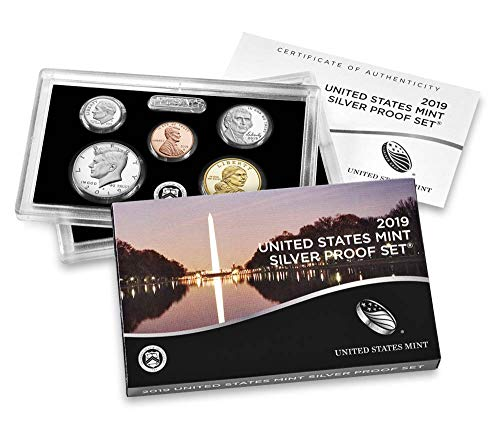 2019 S U.S. Mint 10-coin Silver Proof Set - OGP box & COA - Mint Silver Set Us Proof