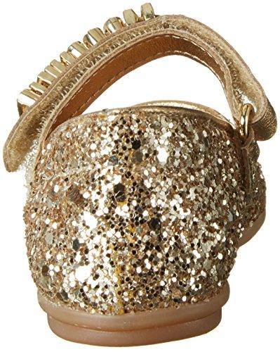 Fille 25965 9111 Fermé MOSCHINO Oro Glitter Bout Gold Ballerines Or dASYqTYwa