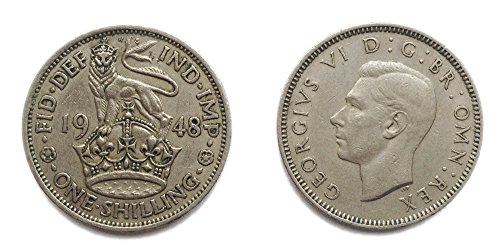 Coins for collectors - Circulated 1948 English Shilling Coin / Great Britain