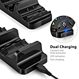 Obvis Xbox One / Xbox One S / X Dual Charging Dock Charger Station with 2 Rechargeable Batteries and USB Cable Wireless Controller
