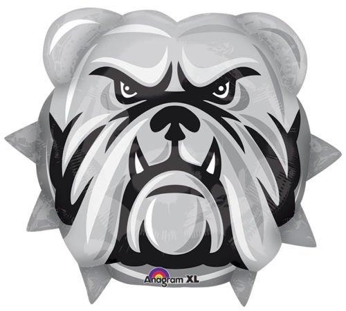 """LoonBalloon BULLDOGS Bull Dogs School Mascot Logo TEAM 21"""" Graduation Party Mylar Balloon"""