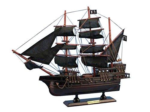 Wooden Black Bart's Royal Fortune Model Pirate Ship 15''