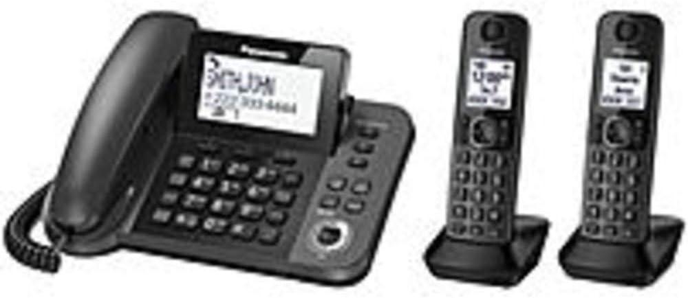 Panasonic kx-tg572sk DECT 6.0 abrazadera de/teléfono inalámbrico con sistema de respuesta digital, 2 terminales: Amazon.es: Electrónica