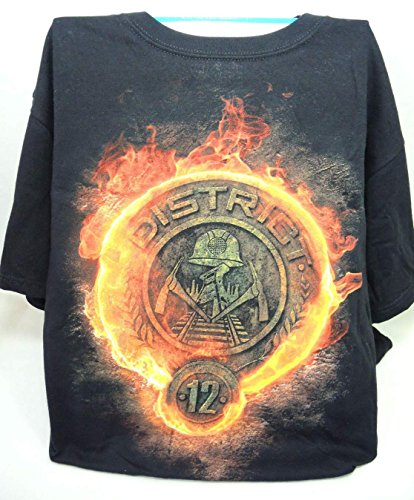 NECA Hunger Games Black T-shirt District 12 logo - Small (The Hunger Games Costumes)