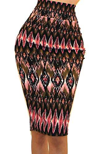 - 51hj1ha385L - Vivicastle Women's High Waist Band Bodycon Career Office Midi Pencil Skirt