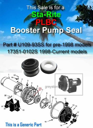 STA-RITE Booster Pump PLBC Seal Replacement U109-93SS 17351-0102S (Booster Sta Rite Pump)