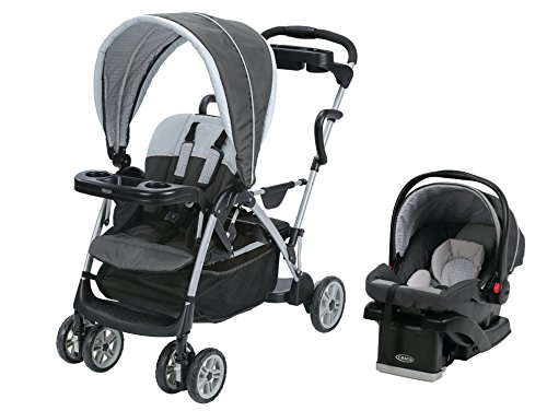 2 Seater Stroller With Car Seats - 2