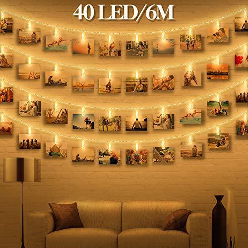 Led Fotoclips Lichterkette Für Zimmer Deko Wellead Clip Bilder
