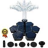 Malenoo Solar Fountain Pump,Snowflake shape 1.5W Free Standing Solar Fountain Water Pumps (black-1)